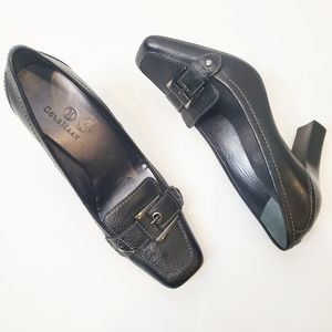 Womens Cole Haan Black Leather Heels Square Toe 8B